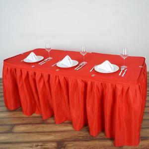 14FT Pleated Polyester Table Skirt