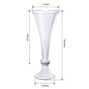 18″ Reversible Crystal Ball Trumpet Glass Vase