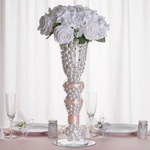20″ Pilsner Curved Trumpet Glass Vase