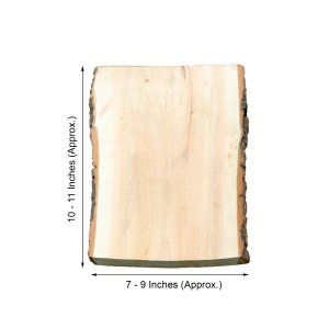 11″x9″ | Rustic Natural Wood Slice