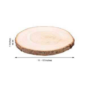 15″ Dia | Rustic Natural Wood Slice