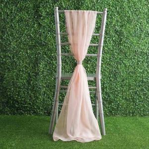22″ x 78″ Premium Designer Chiffon Chair Sashes