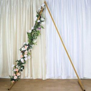 8 Ft Tall – Gold Triangular Metal Wedding Arch