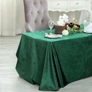90″ x 132″ Premium Velvet Rectangle Tablecloth