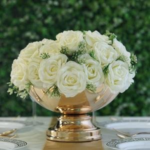 12″ Round Metallic Pedestal Bowl