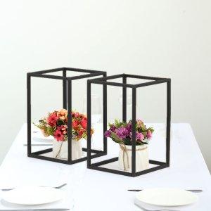 "2 Pack | 12"" Matte Black Metal Wedding Flower Stand"