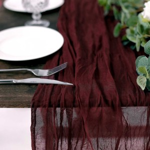 10FT Cheesecloth Table Runner