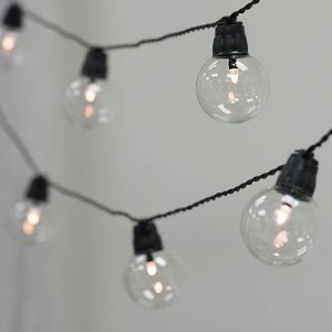 26FT String LED Lights With 25 Clear Bulbs