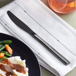 Acopa Phoenix Black Stainless Steel Forged Dinner Knife