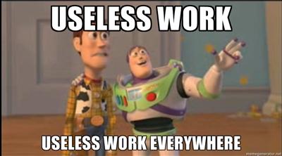 """90% van al het """"werk"""" is volstrekt zinloos"""