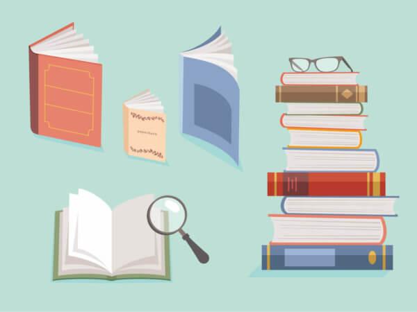虫眼鏡と本