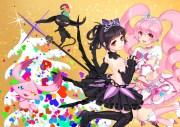 2girls 6 heart princess bicolored