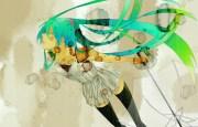 green eyes hair hatsune miku