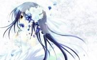 blue hair flowers wedding attire | konachan.com - Konachan ...