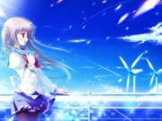clouds game cg gray hair journey