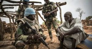 Photo MINUSMA/Gemma Cortes. Des Casques bleus de l'ONU dans la région de Mopti, au centre du Mali, en juillet 2019.
