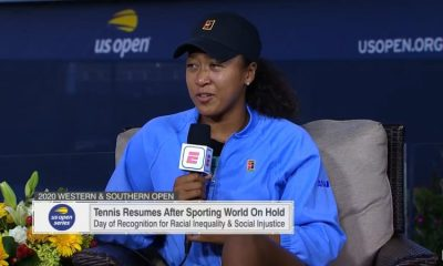 «Naomi Osaka s'exprime sur son action incitant le monde du tennis à protester contre la fusillade policière contre Jacob Blake.» Capture d'écran du 28 août 2020 sur la chaîne YouTube officielle d'ESPN.