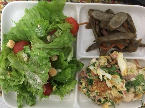 レタスとトマトのサラダ、きんぴらごぼう、野菜と卵の炒め物|婚活女性から実際に送られてきたダイエットメニュー公開
