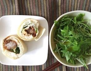 水菜サラダ、ラップサンド|婚活女性から実際に送られてきたダイエットメニュー公開