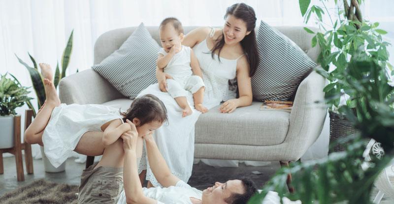 家族、子ども、幸せな家庭