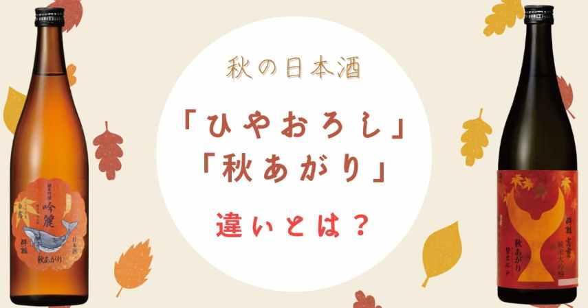 【秋の日本酒】「ひやおろし」「秋あがり」とは?違いや特徴、おすすめの銘柄を紹介します