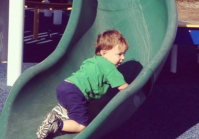 Nie mów moim dzieciom jak wspinać się na zjeżdżalnię Image