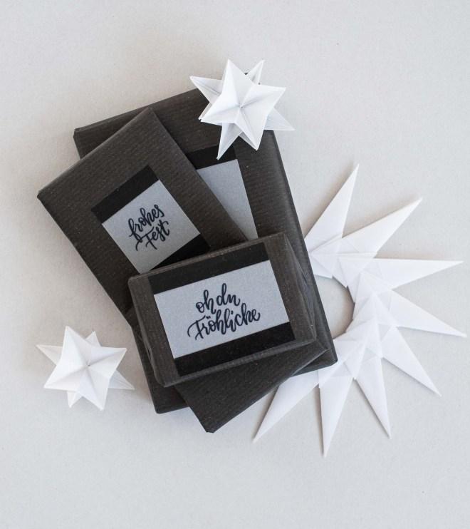 Handlettering für Weihnachtsgeschenke als Printable Transparentpapier