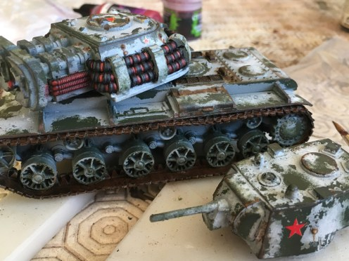 Rust finished on the Chassis and Turrets