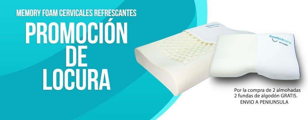 almohada Memory Foam. para cervicales Terapéutica
