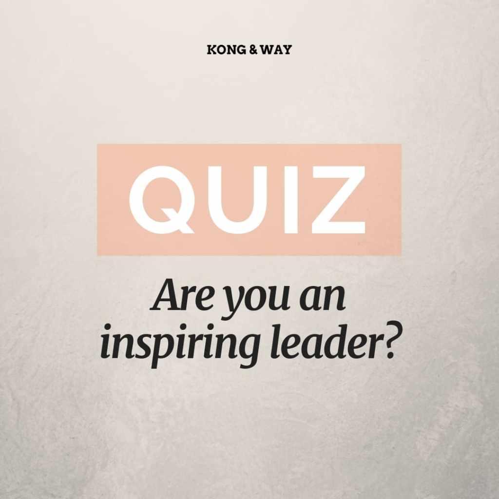 Inspiring leader quiz kong and way