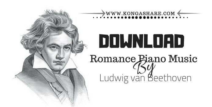 Romance Beethoven Piano Music Sheet