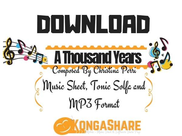 Download A Thousand Years Sheet Music By Christina Perri Kongashare