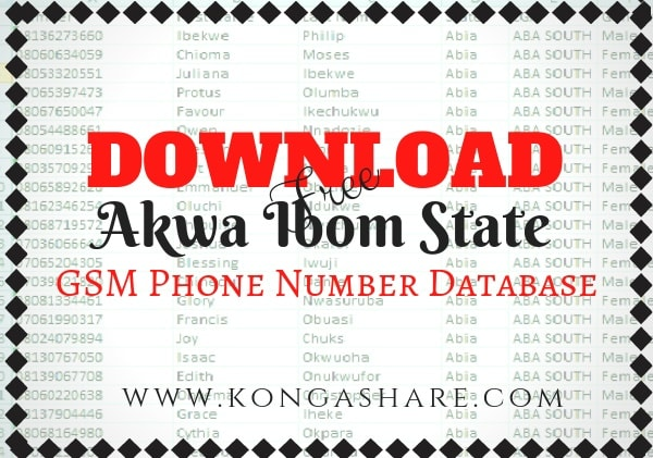 Download Free akwa ibom State GSM Phone Number Database