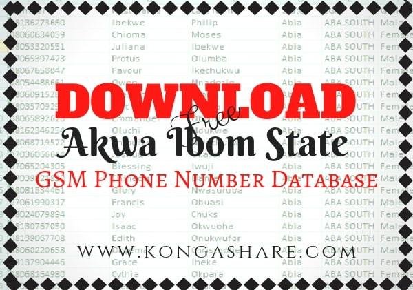 Download Free akwa ibom State GSM Phone Number Database