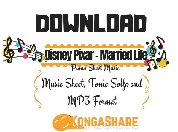 Download Free Disney Pixar - Married Life Piano sheet music