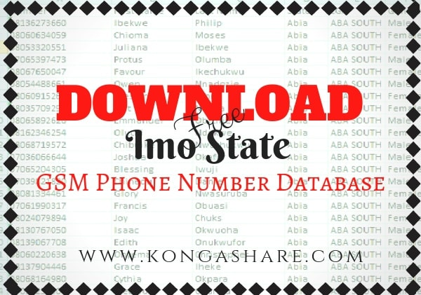 Download Free Imo State GSM Phone Number Database kongashare.com..m-min