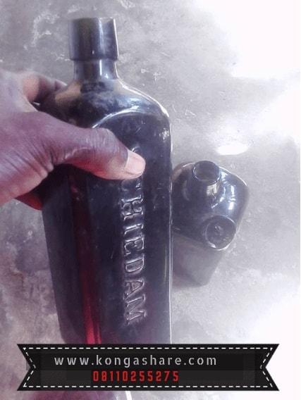 Make money with Old Items - Old Schnapps bottle, Kerosene Lamp..