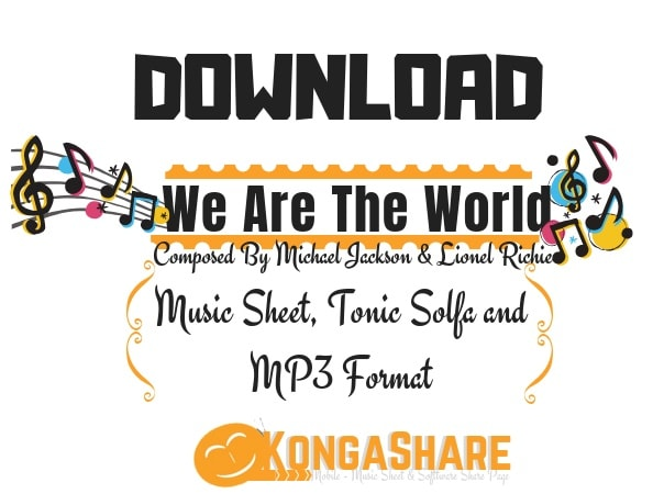 Download We Are The World Sheet Music by Michael Jackson
