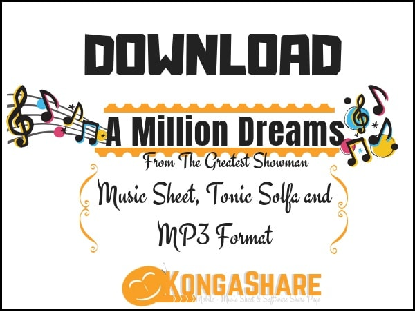 "A Million Dreams piano sheet music ""From The Greatest Showman"" in G major"
