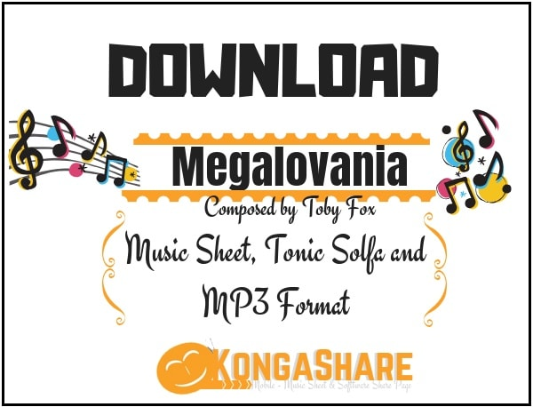 Download Megalovania piano sheet music in PDF and MP3_ kongashare.com_m-min