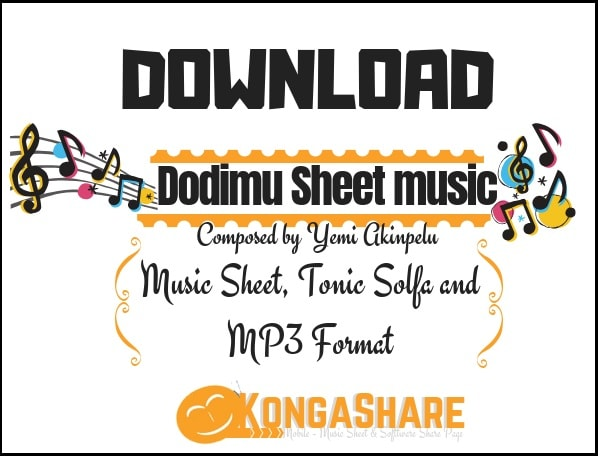 Dodimu music sheet (Yemi Akinpelu music score) in PDF and MP3