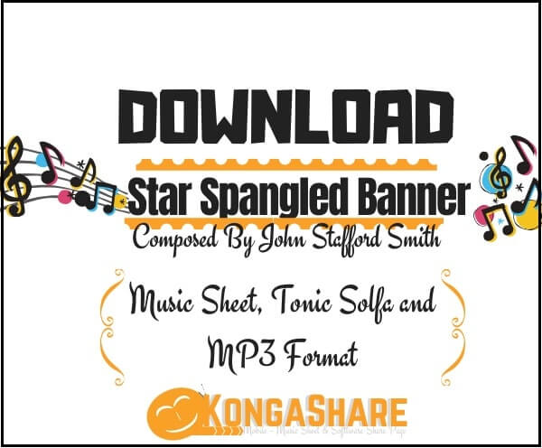 "Star Spangled Banner sheet music ""USA National Anthem"" in PDF & MP3"