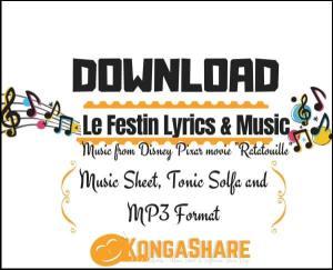 Le Festin Lyrics with Sheet music_kongashare.com_m