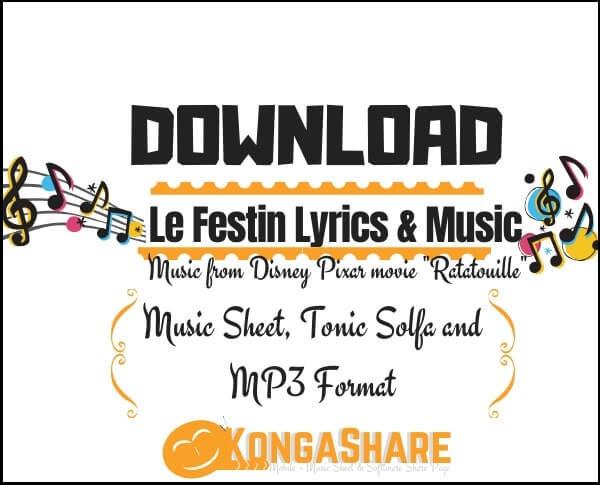 Le Festin Lyrics with Sheet music_kongashare.com_m