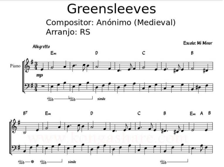 greensleeves sheet music_kongashare.com_score