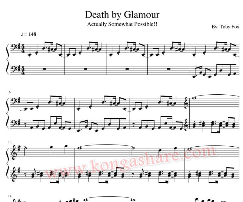 death by glamour sheet music_kongashare.com_m
