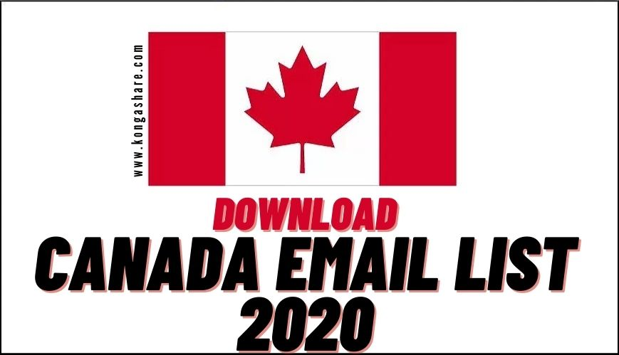 download free canada email list 2020 free_kongashare.com_m