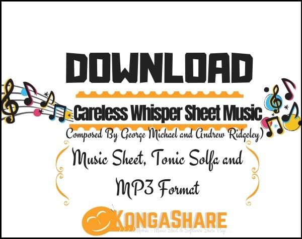 Careless Whisper sheet music_kongashare.com_mm