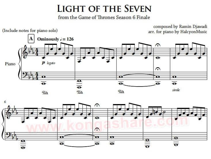 Light of the Seven sheet music_kongashare.com_mm