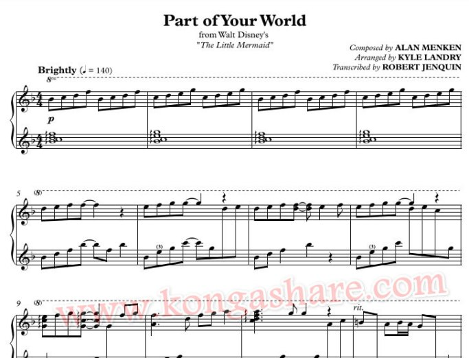 part of your world sheet music_kongashare.com_mnm
